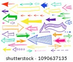 hand drawn colorful left and... | Shutterstock .eps vector #1090637135