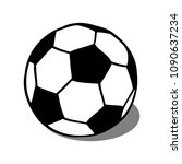 soccer  football ball with... | Shutterstock .eps vector #1090637234