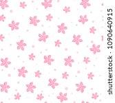 sakura cherry blossoms seamless ... | Shutterstock . vector #1090640915