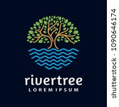 river tree logo circle shape... | Shutterstock .eps vector #1090646174