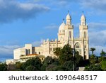 basilica of saint augustin in... | Shutterstock . vector #1090648517