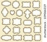 vector frame set | Shutterstock .eps vector #109066319