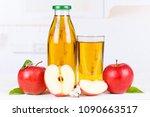 apple juice apples fruit fruits ... | Shutterstock . vector #1090663517