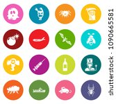 fears phobias icons set vector... | Shutterstock .eps vector #1090665581