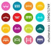 bridge icons set vector... | Shutterstock .eps vector #1090671749