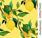 watercolor seamless pattern... | Shutterstock . vector #1090675634