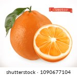 orange. fresh fruit 3d... | Shutterstock .eps vector #1090677104