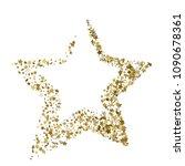 vector of gold christmas star... | Shutterstock .eps vector #1090678361