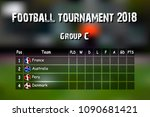 football results table.... | Shutterstock .eps vector #1090681421