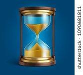 realistic hourglass  sand clock ... | Shutterstock .eps vector #1090681811