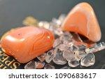 set of 2 tumbled carnelian.... | Shutterstock . vector #1090683617