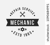 auto mechanic service. mechanic ... | Shutterstock .eps vector #1090684991