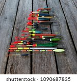 fishing floats in different... | Shutterstock . vector #1090687835
