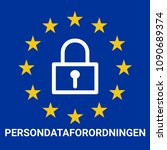 gdpr  general data protection... | Shutterstock . vector #1090689374