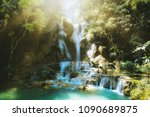 tat kuang si waterfalls at...   Shutterstock . vector #1090689875