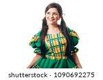 brazilian woman wearing typical ... | Shutterstock . vector #1090692275