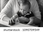 black and white image of...   Shutterstock . vector #1090709549