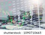 stock market or forex trading... | Shutterstock . vector #1090710665