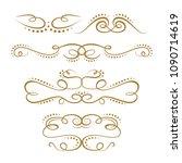 vintage flourishes set on a... | Shutterstock .eps vector #1090714619