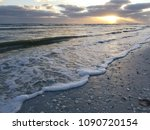 Tide Coming In At Sunset