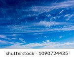 High white  wispy cirrus clouds  in the blue Australian sky in late autumn are sometimes called mare