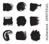 set of black brushes.... | Shutterstock .eps vector #1090725161