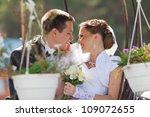 bride and groom in love | Shutterstock . vector #109072655