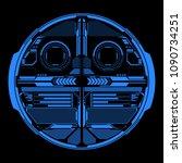 hud futuristic blue elements... | Shutterstock .eps vector #1090734251