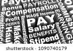 pay income earning wage salary... | Shutterstock . vector #1090740179