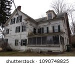 abandoned house in the woods.   ...   Shutterstock . vector #1090748825