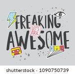 trendy t shirt design with... | Shutterstock .eps vector #1090750739