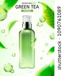 green tea skin care spray... | Shutterstock .eps vector #1090761089