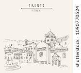trento  northern italy.... | Shutterstock .eps vector #1090770524