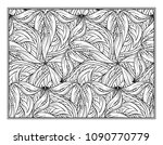 black and white decorative... | Shutterstock .eps vector #1090770779