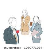 businessman and businesswoman...   Shutterstock .eps vector #1090771034