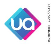 letter ua logo with colorful... | Shutterstock .eps vector #1090771694