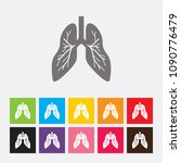 lung icon   vector | Shutterstock .eps vector #1090776479