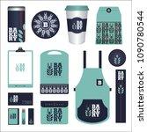 bakery branding mockup and... | Shutterstock .eps vector #1090780544