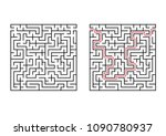 abstract square maze. simple... | Shutterstock .eps vector #1090780937