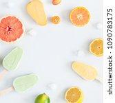 summer background. popsicles ... | Shutterstock . vector #1090783175