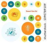 dessert icons in simple ... | Shutterstock .eps vector #1090789109