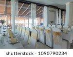 ceremonial hall for weddings... | Shutterstock . vector #1090790234
