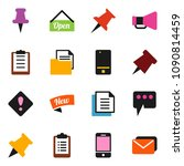 solid vector icon set   paper... | Shutterstock .eps vector #1090814459