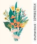 vector illustration bouquet of...   Shutterstock .eps vector #1090815014