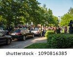 rostock  germany   may 14  2018 ... | Shutterstock . vector #1090816385