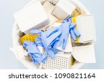 danger laboratory chemical and... | Shutterstock . vector #1090821164