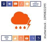 cloud thunderstorm lightning... | Shutterstock .eps vector #1090822295