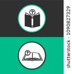 open book vector icon. | Shutterstock .eps vector #1090827329