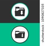file folder vector icon. | Shutterstock .eps vector #1090827335