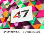 white number 47 on the orange... | Shutterstock . vector #1090830101